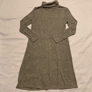 American Eagle Long Sleeve Grey Turtle Neck Dress